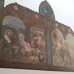Quadro de Angelo Biggi que representa Jesus na Manjedoura e Fuga da Sagrada Família para o Egito