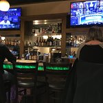 bar with color changing lights