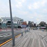 大さん橋手前の風景。