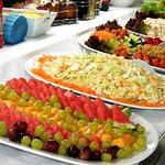Choice of salads on the smorgasbord