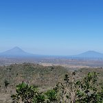 Beautiful view of Ometepe from the bar