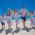 Family photos on beach