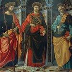 San Esteban entre San Jacobo y San Pedro, Domenico Ghirlandaio