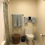 Ironwood Room Bathroom with Comfort Height Kohler Toilet and Kohler Shower/Tub