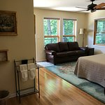 Basswood Room with Leather Couch