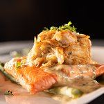 Scottish Salmon with Blue Crab and Bearnaise Sauce