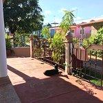 Porch and garden