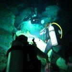 Cenotes Tajma-ha.  Flashlights a must.