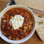 Chickpea and Spinach stew is a firm favourite for many of our regular customers