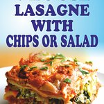 Veggie Lasagne with Chips or Salad