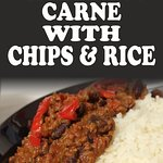 Home Made Chilli Con Carne with Chips & Rice