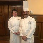 Chef Raj Kumar and assistant Kashish