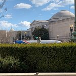 The National Gallery of Art from the outside.