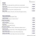 SALADS & COLD SANDWICHES