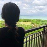 從陽台可以俯瞰整個海灘