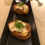 牡蠣の燻製 生ハム マスカルポーネのフレンチトースト