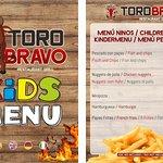Menú Restaurante Toro Bravo
