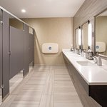 We increased the size of our lobby restrooms, and added changing stations for men & women