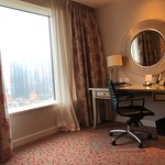 Sheraton Grand Macao Hotel - desk, rolling chair and view