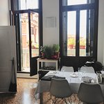 View from the kitchen - did I mention Michele lives in an old Venetian Palazzo?