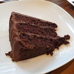 Chocolate cake to conclude my meal