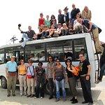 Tourist Bus Ride fun in Kathmandu, Nepal