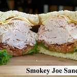 Our Smokey Joe Sandwich.  All sandwiches are also available as wraps.
