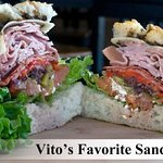 Our Vito's Favorite Sandwich.  All sandwiches are also available as wraps.