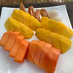 Fresh Fruit Cut up right in front of view every morning for breakfast