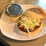Smoke Pulled Pork sandwich with coleslaw...
