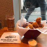 Fish and chips and beer.  What could be better?