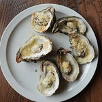 Roasted oysters.
