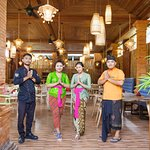 Staff welcoming the guest at Dessa Restaurant Ubud Raya Villa and Resort