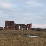 руины, дальняя стена