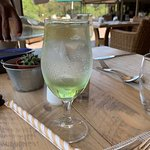 Ordered repeat of welcome drink (club soda and lime) - wonderful!