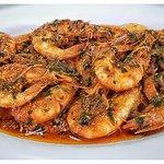 Camarones La Perla. Shrimp La Perla style.