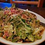 Salad - Chopped salami, provolone, garbanzo, tomato, red onions, creamy tarragon vinaigrette. An excellent salad!