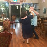 All time cha cha cha hit 'Smooth' by Carlos Santana kept Greg and Marilyn dancing. Visit us or book your function now.