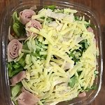 Mix de vegetasles, roule de jamon y parmesano