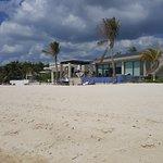 Walking down the beach towards Playa Del Carmen.  Nice House!