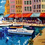 St-Tropez 48x72... Gorgeous Christian Bergeron's painting. It found its home in Florida.