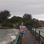 Ponte de ligação com a Ponta das Campanhas. Parte mais bonita da praia.