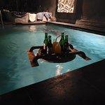 Beer in the pool