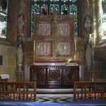 The Pulpit inside St. Giles Church (Wrexham)