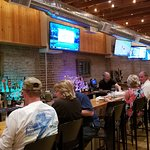 Bar with sports viewable to only 1/3 of restaurant