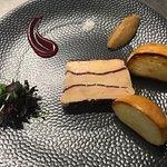le foie gras en mille feuilles de viande des grisons