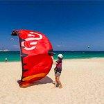 landing- Naxos kitelife kitesurfing school