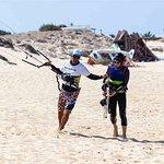 upwind efforts- Naxos kitelife kitesurfing school