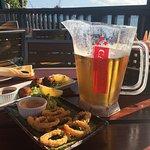 Caybrew, Conch fritters & Calamari