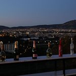 Rooftop bar with a view.